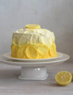 Lemon Cake with White Chocolate Frosting